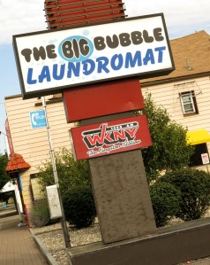 When Warren told me the radio station was next to the Big Bubble Laundromat, it proved very easy to find!