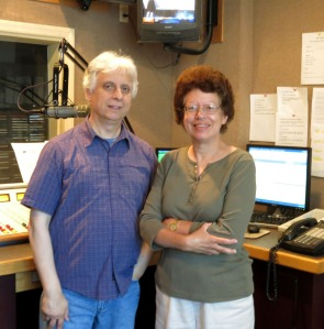 Here I am with radio host Warren Lawrence after our interview.
