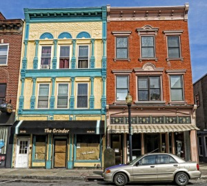 Poughkeepsie's historic Main Street district. The building on the right houses the Mid Hudson Heritage Center, where I'll be doing a talk and book signing on Thursday October 24.