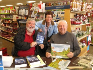 Here I am with Mike and Jim at Fran's Hallmark in Monroe.