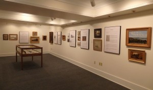 A portion of the exhibit space devoted to McEntee